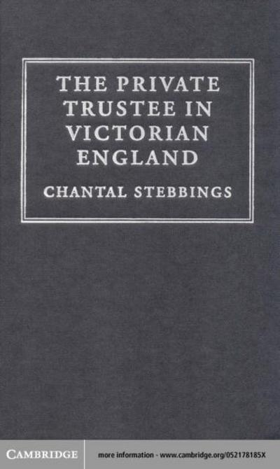 Private Trustee in Victorian England