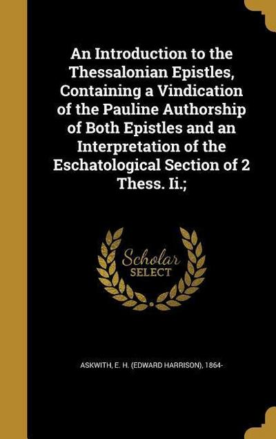 INTRO TO THE THESSALONIAN EPIS