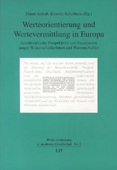 Werteorientierung und Wertevermittlung in Europa