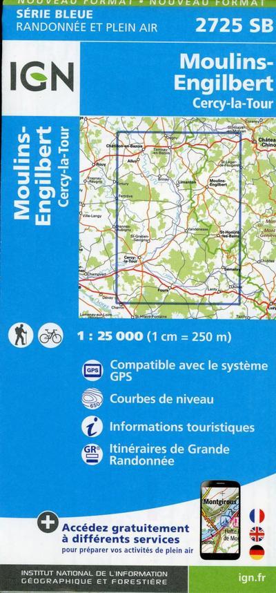 Moulins-Engilbert. Cergy-la-Tour 1:25 000