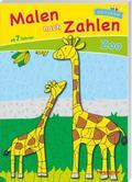Malen nach Zahlen Zoo ab 7 Jahren; Ausmalen, Zahlen und Zählen üben; Malen nach Zahlen; Ill. v. Schmidt, Sandra; Deutsch; schw.-w.