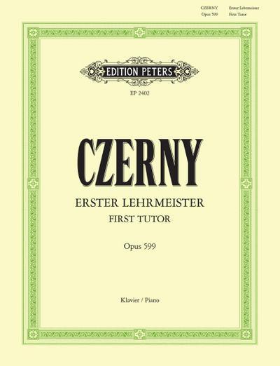 Erster Lehrmeister für Klavier op. 599