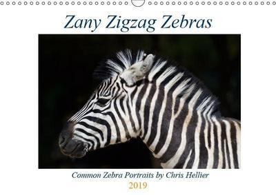 Zany Zigzag Zebras (Wall Calendar 2019 DIN A3 Landscape)