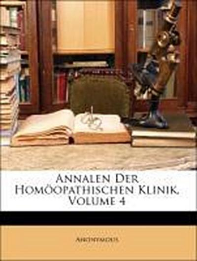 Annalen Der Homöopathischen Klinik, Volume 4