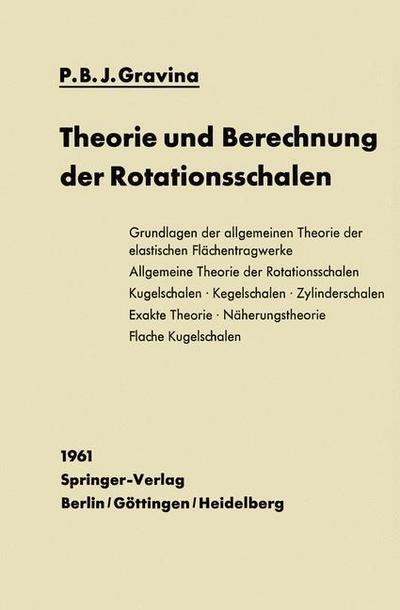 Theorie und Berechnung der Rotationsschalen