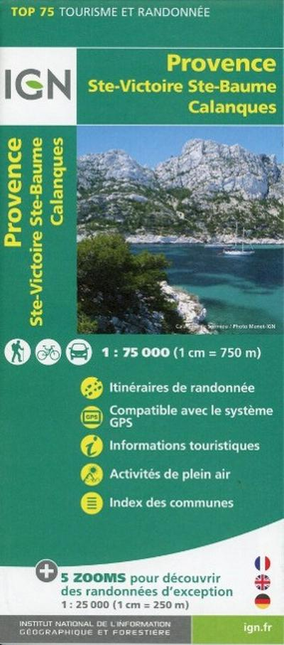 IGN 75 000 Provence Ste-Victoire Ste-Baume Calanques