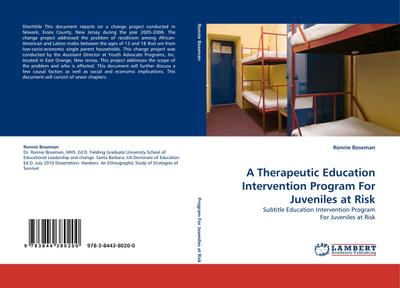 A Therapeutic Education Intervention Program For Juveniles at Risk