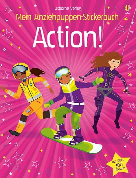 Mein Anziehpuppen-Stickerbuch: Action! Fiona Watt