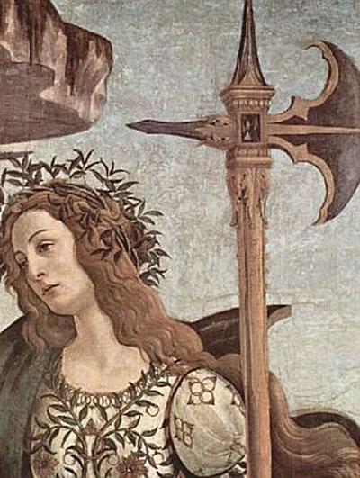 Sandro Botticelli - Minerva und der Kentaur, Detail: Minerva - 500 Teile (Puzzle)