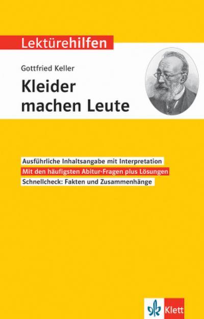 """Lektürehilfen Gottfried Keller """"Kleider machen Leute"""""""