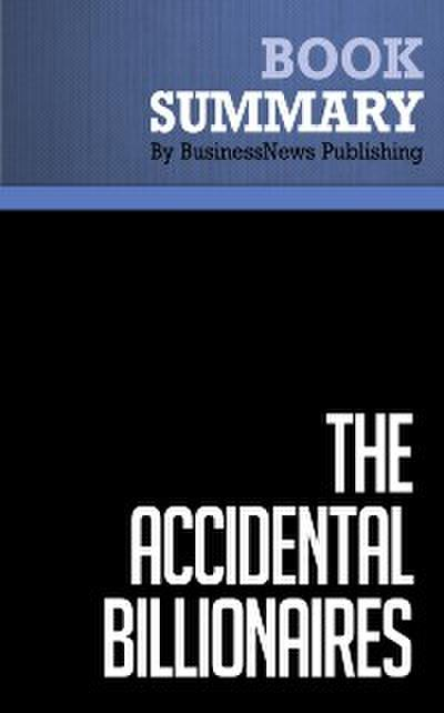 Summary: The Accidental Billionaires  Ben Mezrich