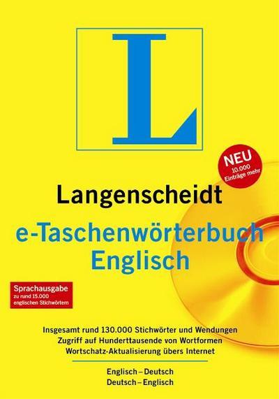 Langenscheidt e-Taschenwörterbuch Englisch