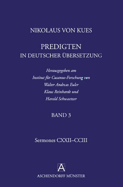 Nikolaus von Kues: Predigten in deutscher Übersetzung/ Band 3