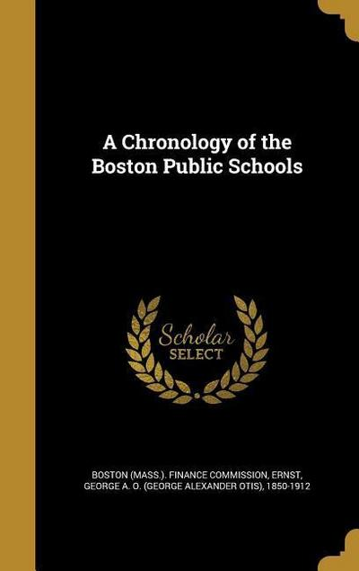 CHRONOLOGY OF THE BOSTON PUBLI