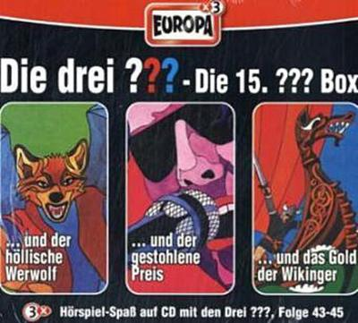 Die drei ??? Box 15. Folgen 43-45 (drei Fragezeichen) 3 CDs