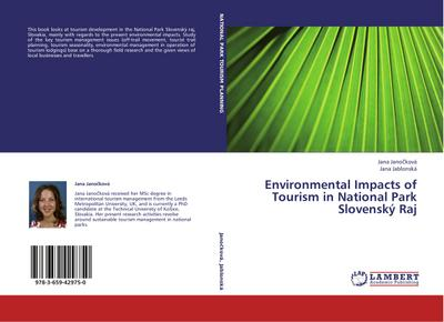 Environmental Impacts of Tourism in National Park Slovenský Raj