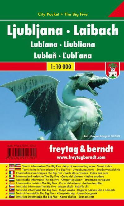 Llubljana - Laibach 1 : 10 000. City Pocket + The Big Five, wasserfest