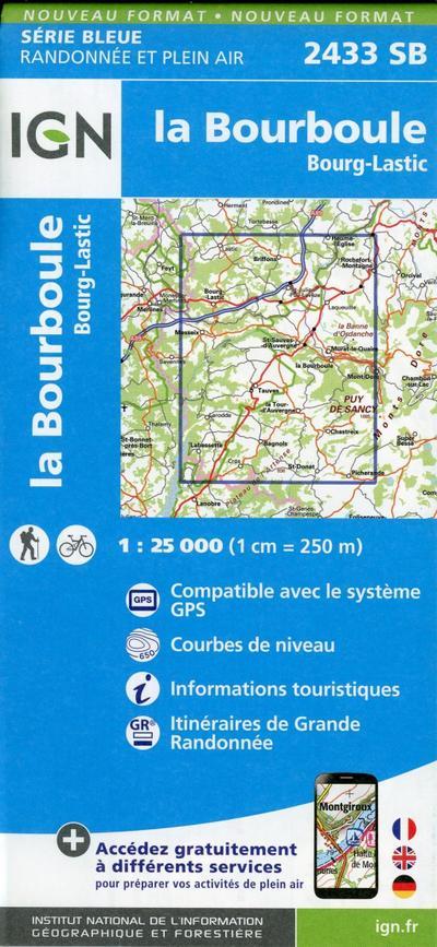 Bourg-Lastic.la Bourboule 1:25 000