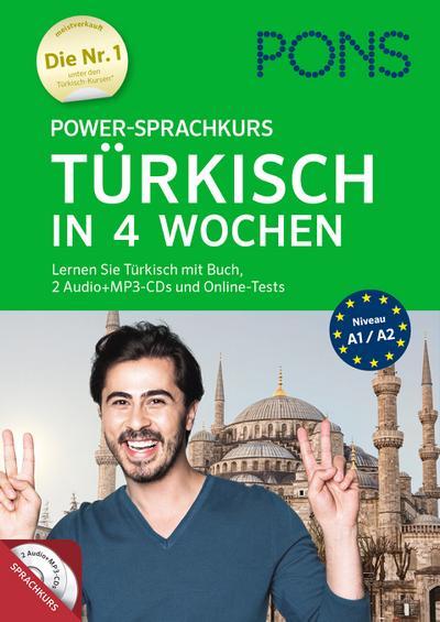 PONS Power-Sprachkurs Türkisch: Lernen Sie Türkisch mit Buch, 2 Audio+MP3-CDs und Online-Tests