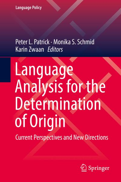 Language Analysis for the Determination of Origin