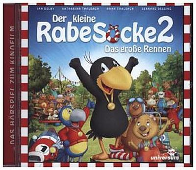 Der kleine Rabe Socke - Das große Rennen, 1 Audio-CD