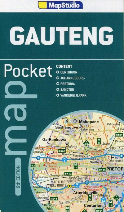 Gauteng Pocket Map 1 : 550 000