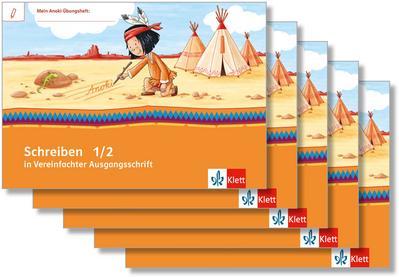 Mein Indianerheft. Schreiben in vereinfachter Ausgangsschrift. Schreiblehrgang Klasse 1/2 (5-er Paket)