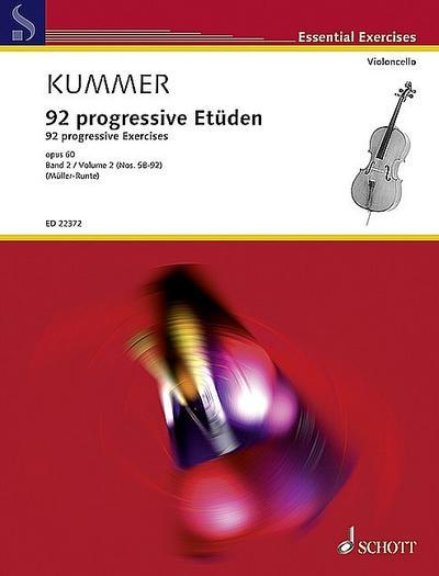 92 progressive Etüden op.60 Band 2 (Nr.58-92)für Violoncello
