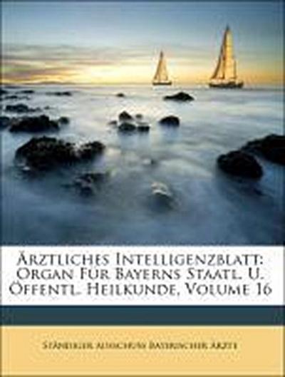 Ärztliches Intelligenzblatt: Organ Für Bayerns Staatl. U. Öffentl. Heilkunde, Volume 16