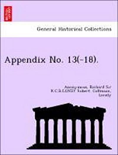 Appendix No. 13(-18).