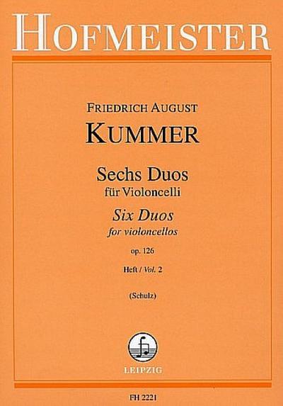 6 Duos op.126 Band 2 (Nr.4-6)für 2 Violoncelli