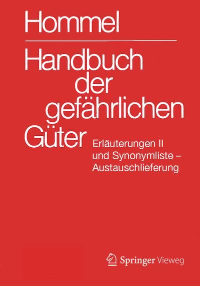 Handbuch der gefährlichen Güter. Erläuterungen II. Austauschlieferung, Dezember 2019
