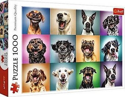 Lustige Hunde Porträts (Puzzle)