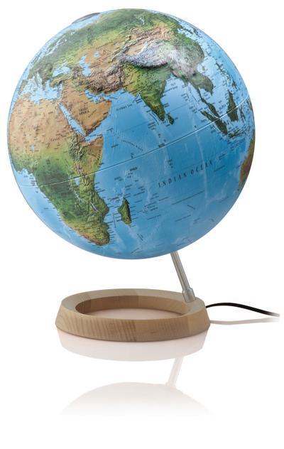 Räthgloben, 3D-Leuchtglobus Atmosphere Full Circle R - Räthgloben 1917 - Broschiert, Deutsch, , Physisch/politisches Kartenbild mit fühlbarem 3D-Oberflächenrelief, Physisch/politisches Kartenbild mit fühlbarem 3D-Oberflächenrelief