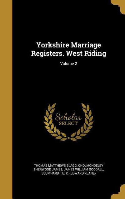 YORKSHIRE MARRIAGE REGISTERS W