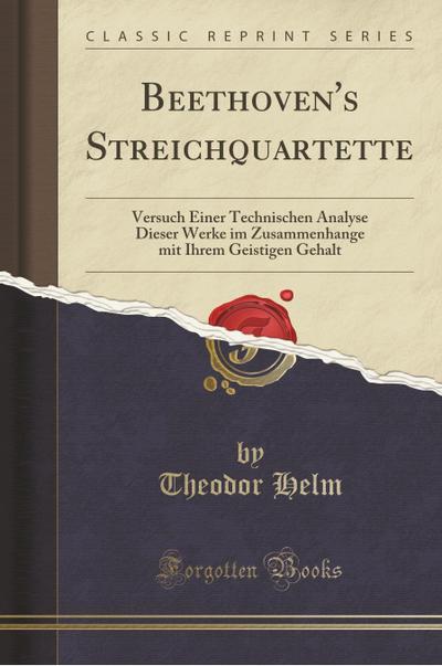 Beethoven's Streichquartette