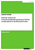 Kritische Analyse der Umweltverträglichkeitsprüfung (UVP) bei Großprojekten in der Wasserwirtschaft - Joachim Scheibe