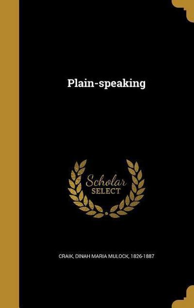 PLAIN-SPEAKING