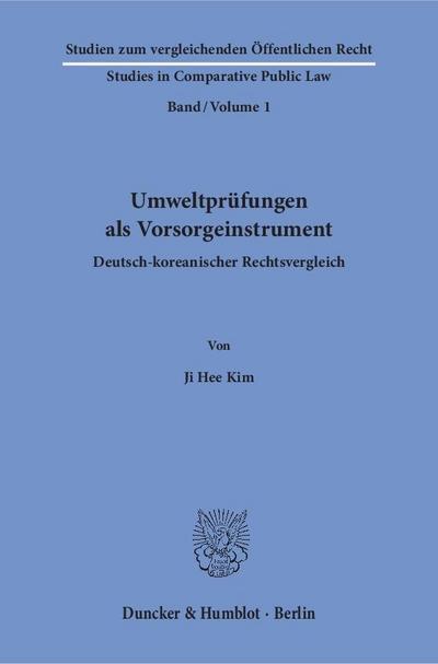 Umweltprüfungen als Vorsorgeinstrument