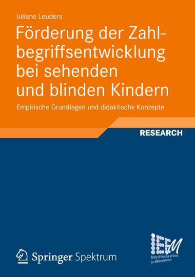 Förderung der Zahlbegriffsentwicklung bei sehenden und blinden Kindern