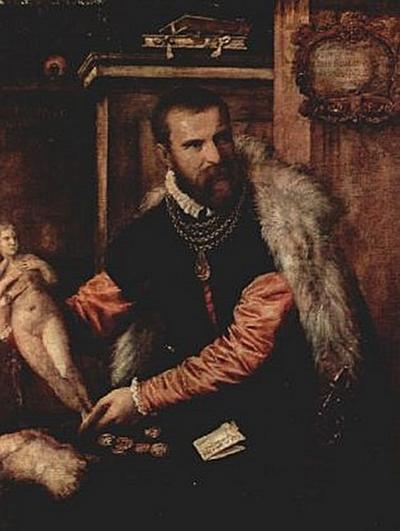 Tizian - Porträt des Kunsthändlers Jacopo Strada - 100 Teile (Puzzle)