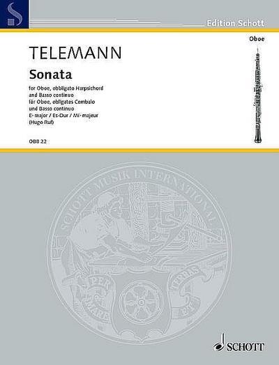 Sonate Es-Dur für Oboe,obligates Cembalo und Bc