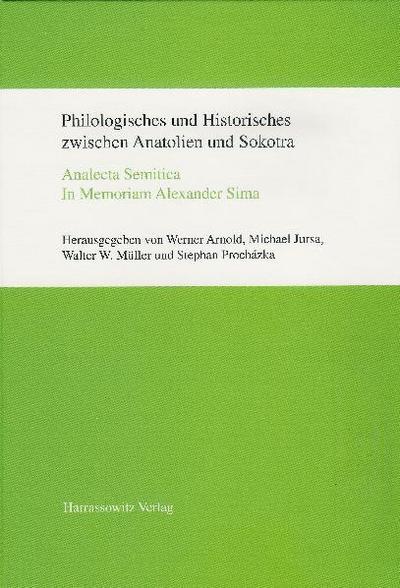 Philologisches und Historisches zwischen Anatolien und Sokotra