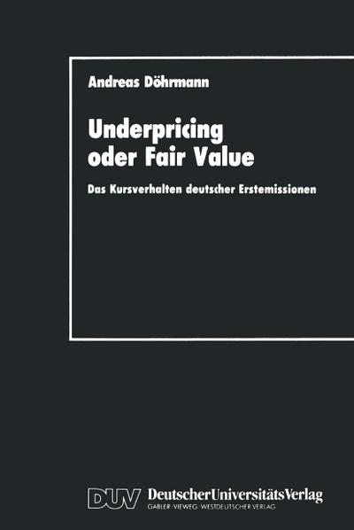 Underpricing oder Fair Value