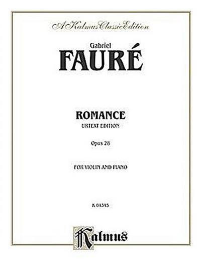 Romance, Op. 28 (Urtext)