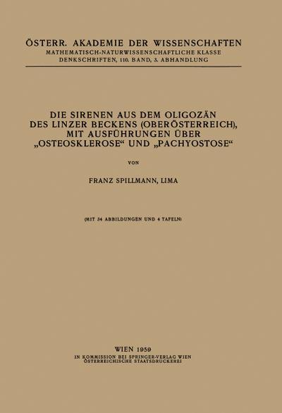 Die Sirenen aus dem Oligozän des Linzer Beckens (Oberösterreich), mit Ausführungen Über