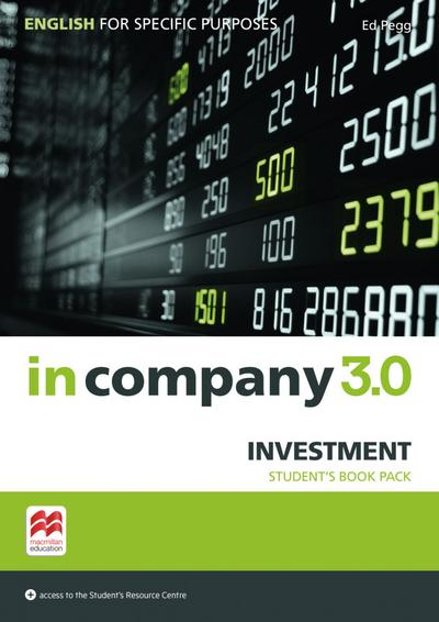 in company 3.0 – Investment: English for Specific Purposes / Student's Book with Online Student's Resource Center