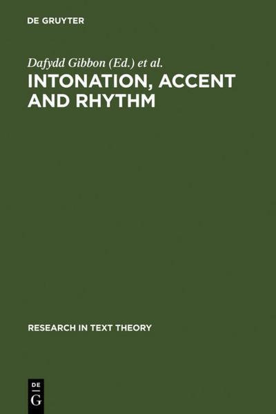 Intonation, Accent and Rhythm