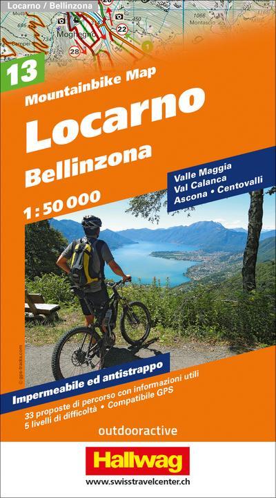 Locarno, Bellinzona Mountainbike-Karte Nr. 13, 1:50 000