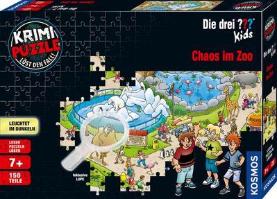 Krimipuzzle ??? Kids 150 Teile / Chaos im Zoo (Kinderspiel)